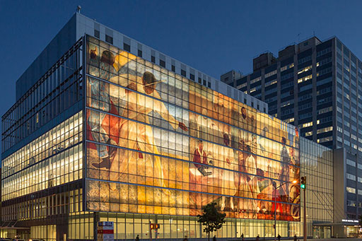 Harlem Hospital, New York, Glass Curtain Wall